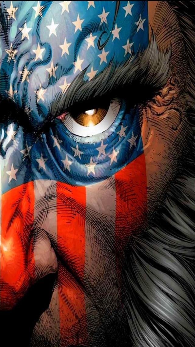 American Flag Wolverine 640x1136