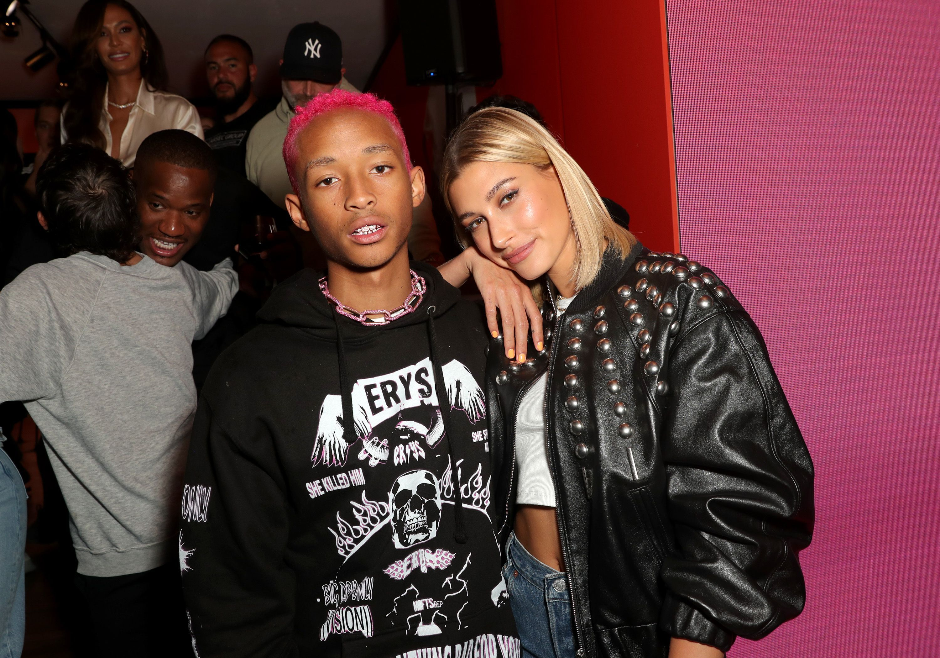 Hailey Bieber Jaden Smith Heron Preston Celebrate Levis 501 Day 3000x2099