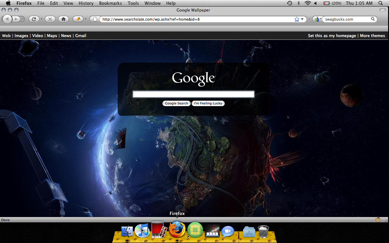 Google themes for homepage