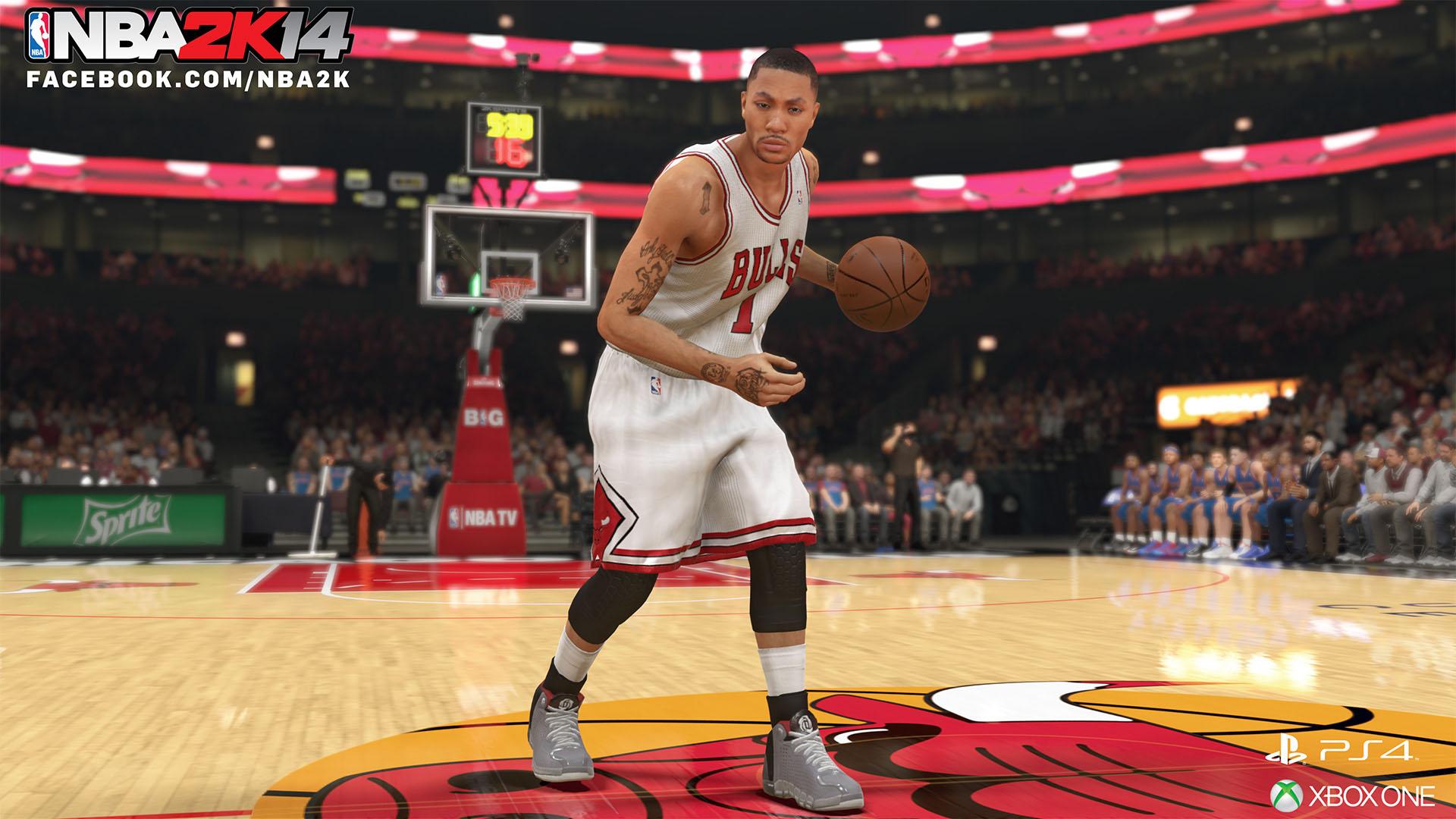 Derrick Rose Chicago Bulls NBA 2K14 1920x1080