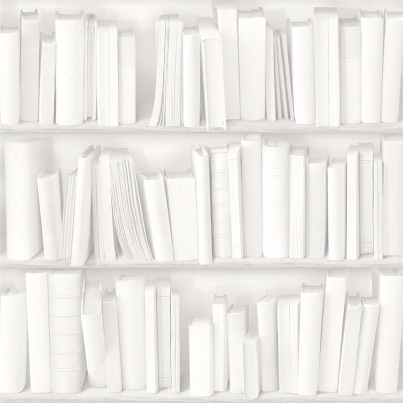 White Grey   J43090   Photo Bookcase Bookshelf Library   Muriva 800x800