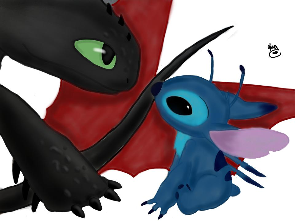 Stitch Meets Toothless by Toothless20 960x720