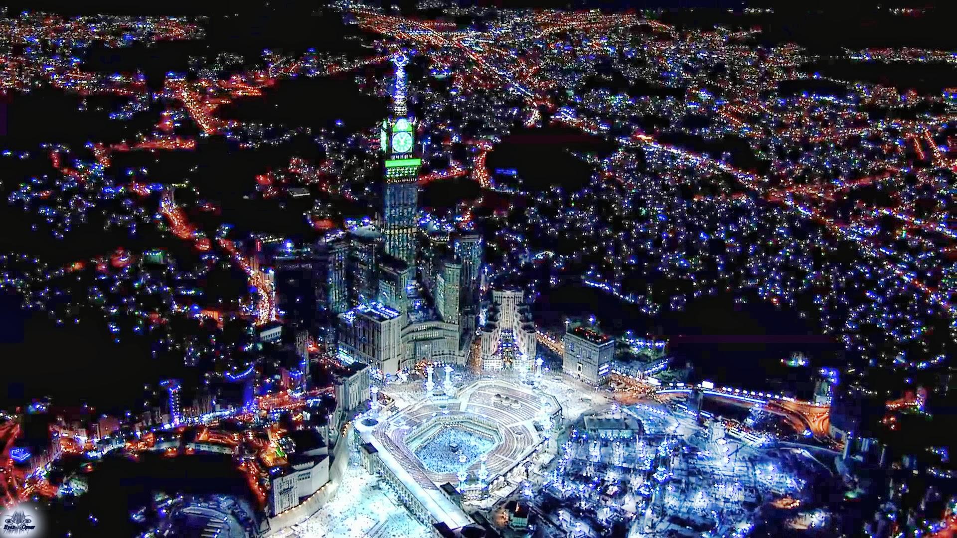 Mecca At Night Desktop Backgrounds for HD Wallpaper wall  art 1920x1080