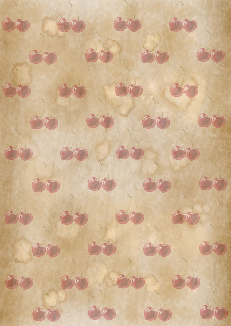 Vintage cherry print wallpaper   Grunge Texture by CherryTarte on 752x1063