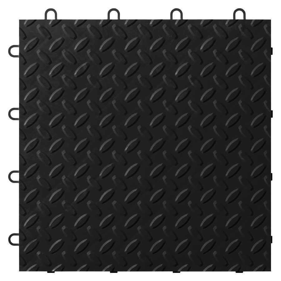12 in x 12 in Black Tread Plate Garage Flooring Tile at Lowescom 900x900