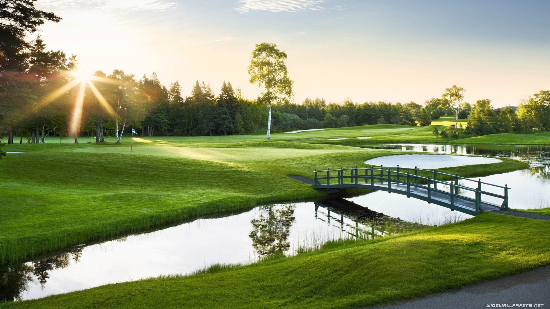 Sport Golf Course Backgrounds Wallpaper 12691 Wallpaper 1920x1080