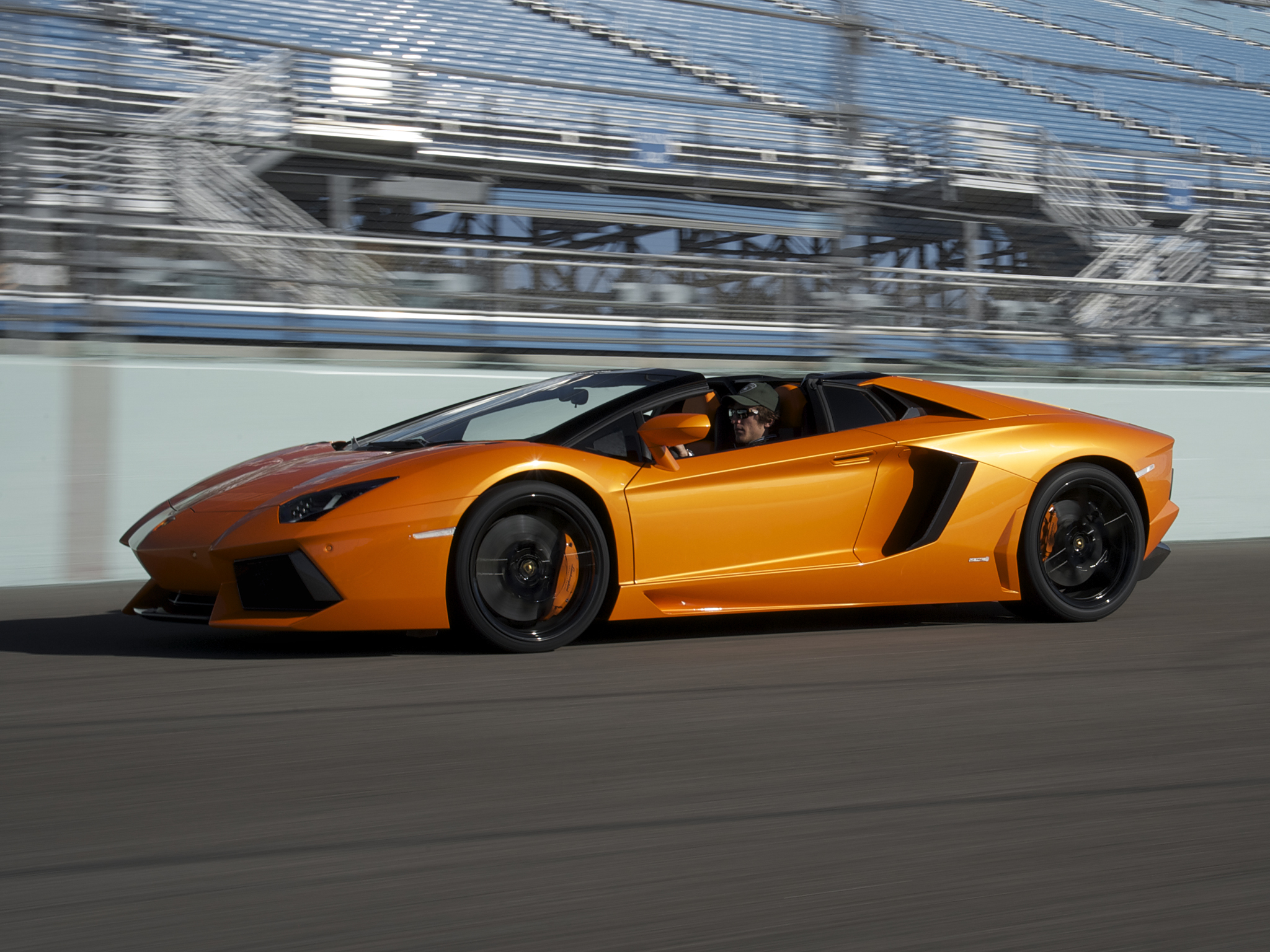2014 Lamborghini Aventador LP700 4 Roadster supercar orange track g 2048x1536