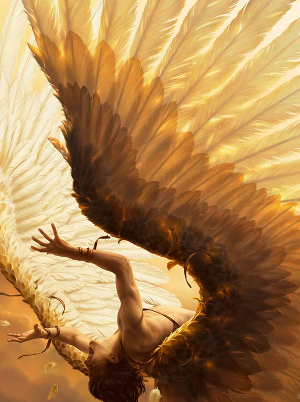 2D Art The Fall of Icarus   2D Digital Digital paintings 992x1332