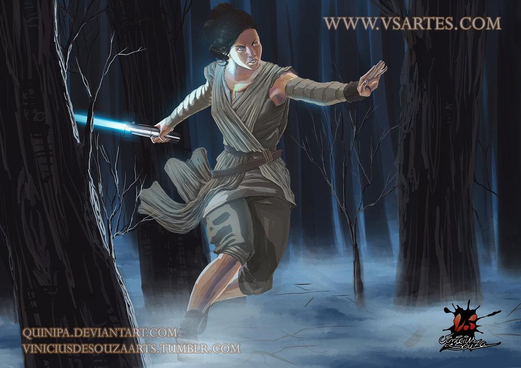 Rey   Star Wars Fanart by viniciusdesouza 1024x724