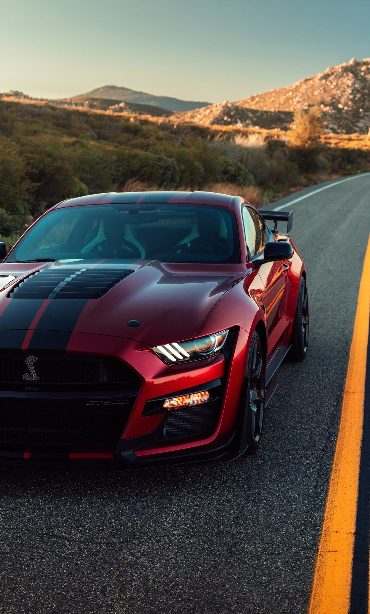 2020 Ford Mustang Gt500 iPhone Wallpapers 1280x2120
