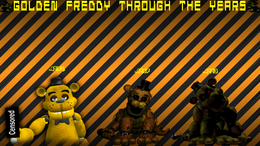 My Golden Freddy Wallpaper by FredbearDude1974 1024x576