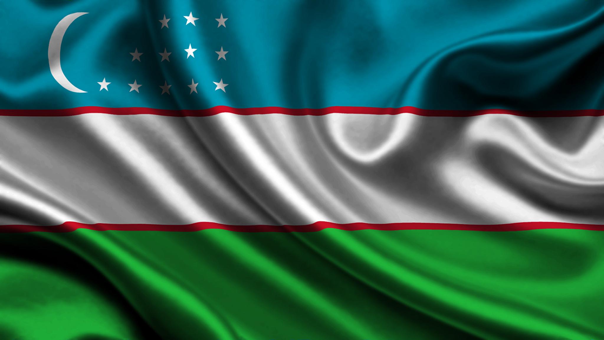 Wallpaper Uzbekistan Flag Stripes 2048x1152 2048x1152