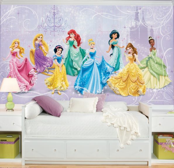 Disney Princess Royal Debut Prepasted XL Sized Wallpaper Mural Room 595x575