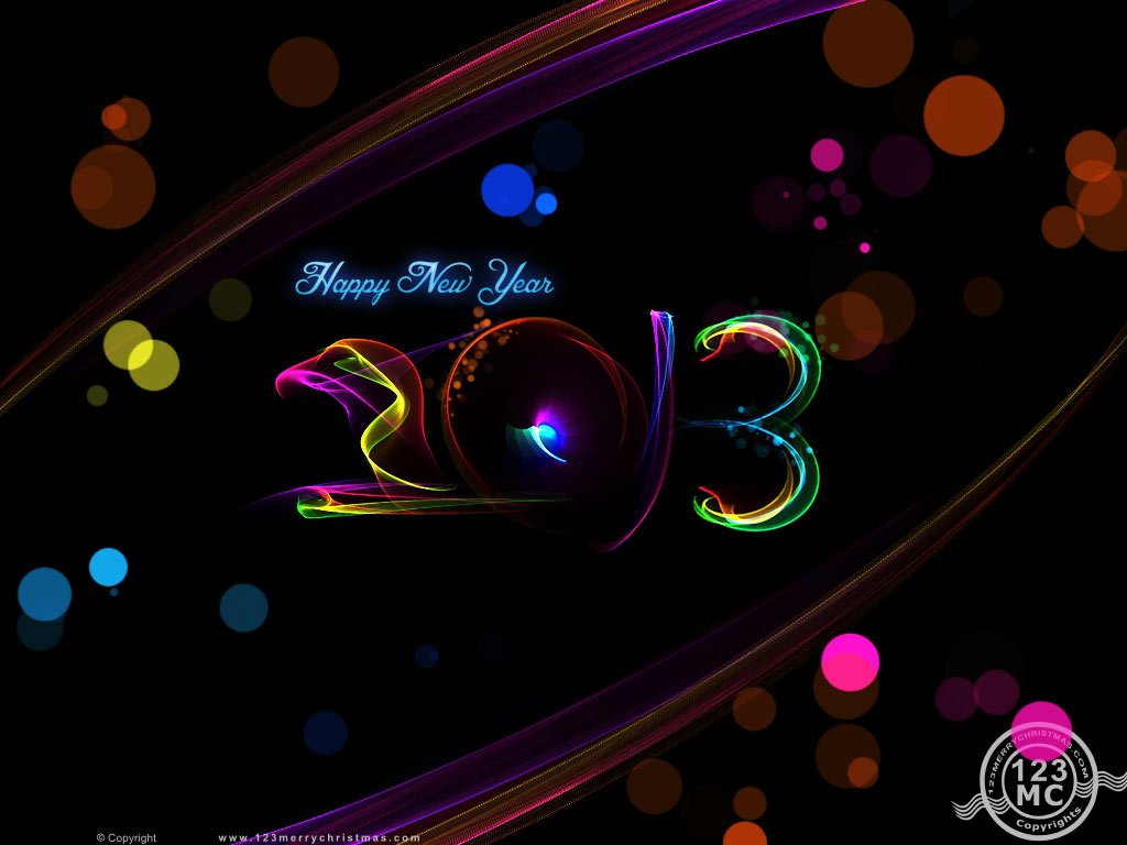 Happy New Year 2013 Wallpapers Desktop Backgrounds eCard 1024x768