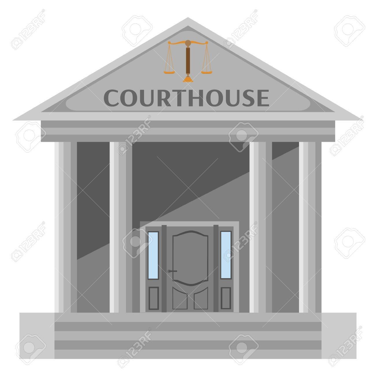 Isolated Courthouse Building On White Background Royalty 1300x1300