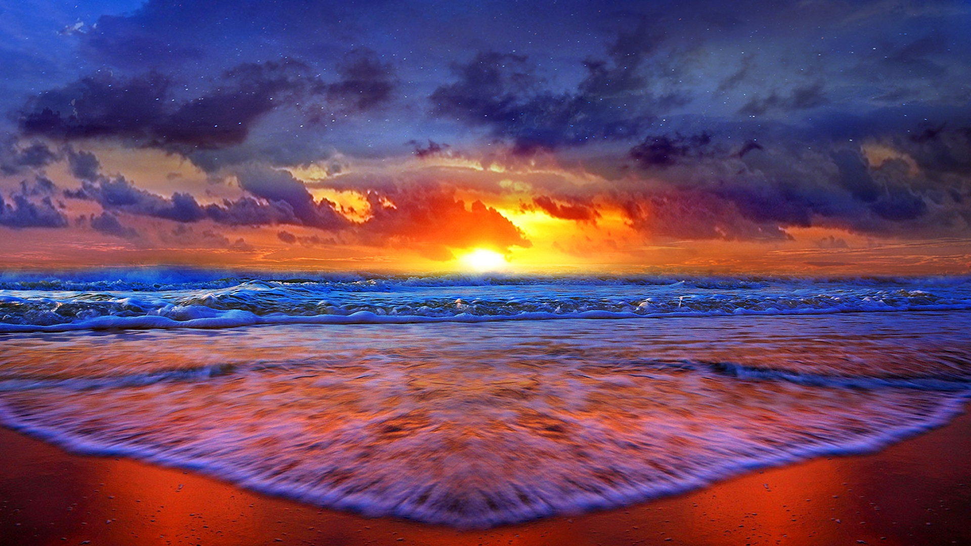 Pics Photos   Sunset Beach Background Sunset Beach Desktop 1920x1080