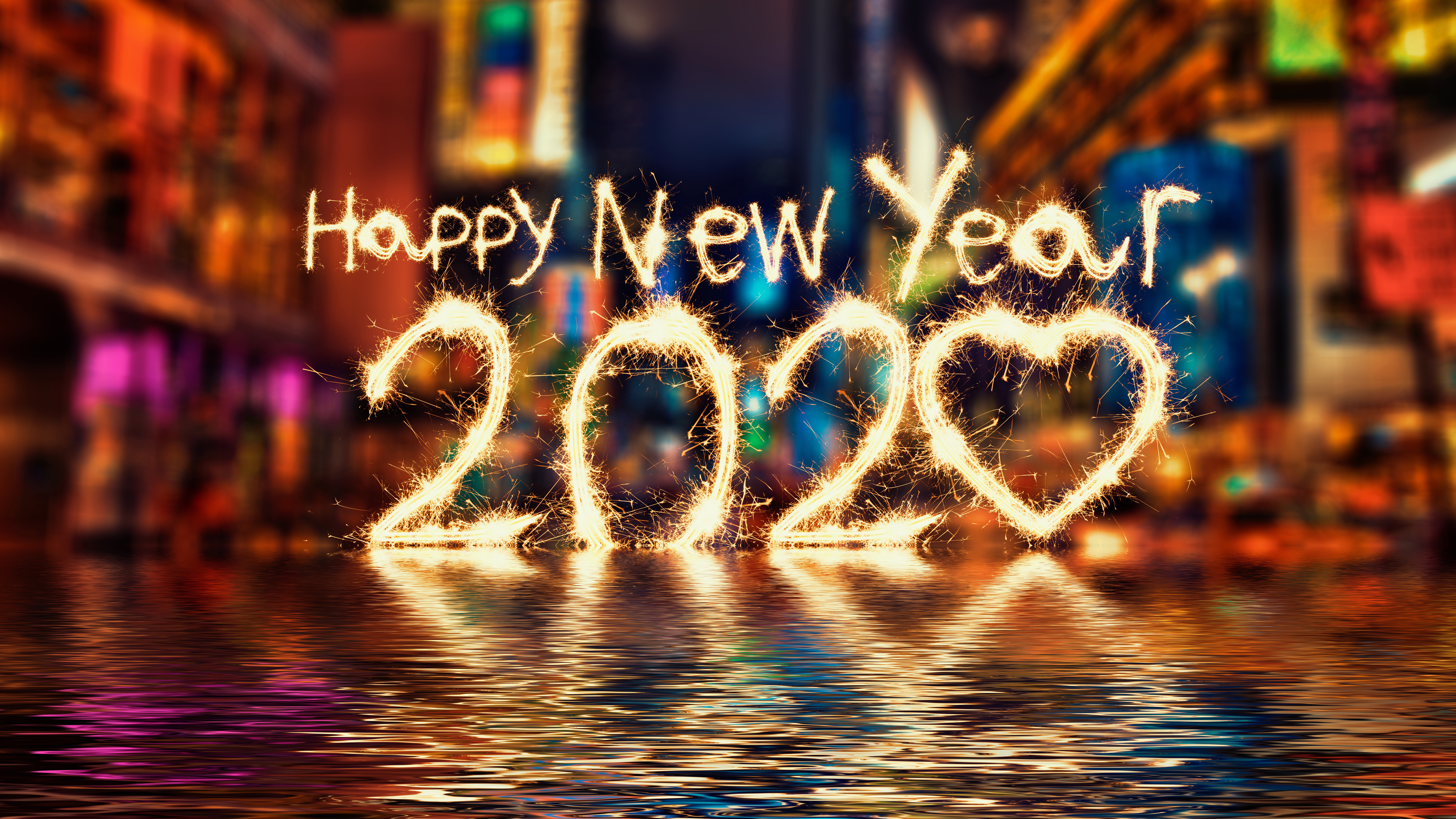 Happy New Year 2020 Wallpapers HD Wallpapers 6000x3375