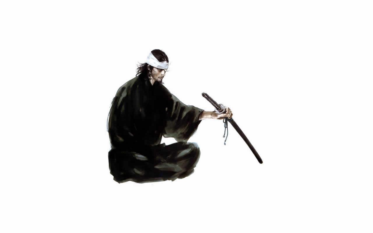 manga samurai katana Miyamoto Musashi wallpaper 1280x800
