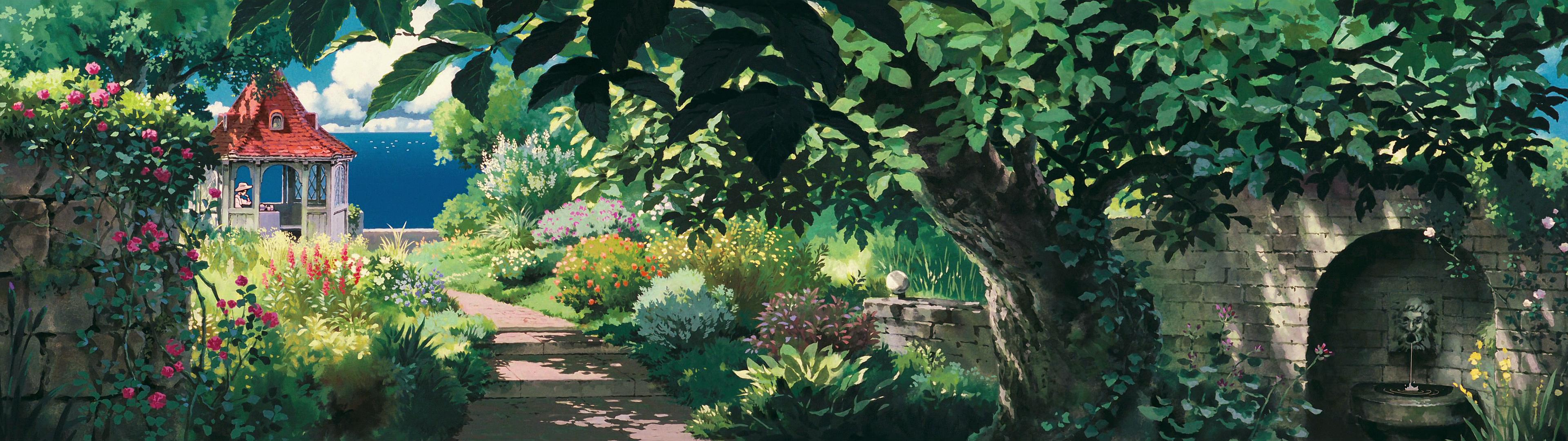 Ghibli double screen wallpapers visual ioner 3840x1080