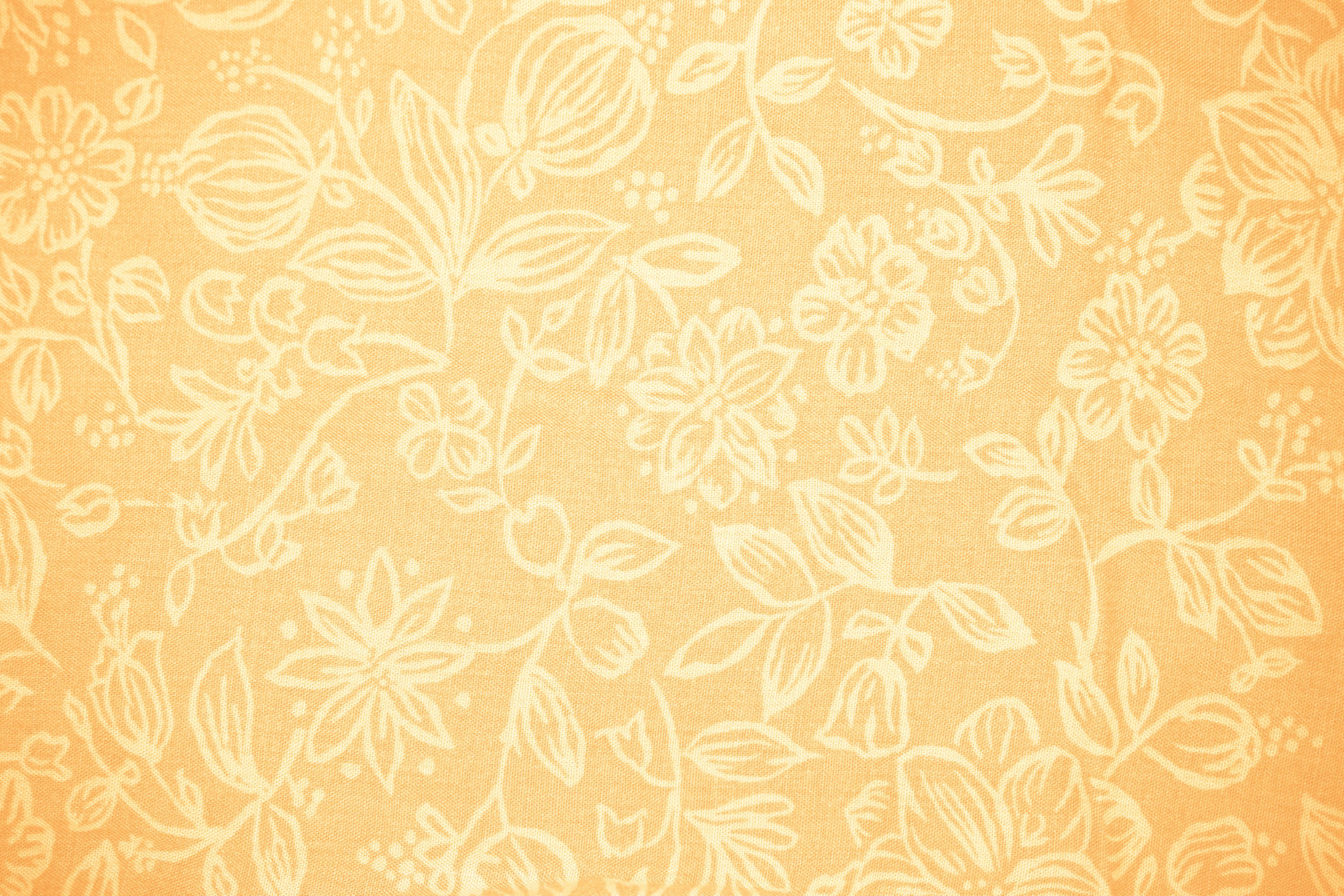 Peach Colored Fabric with Floral Pattern Texture Picture 3888x2592