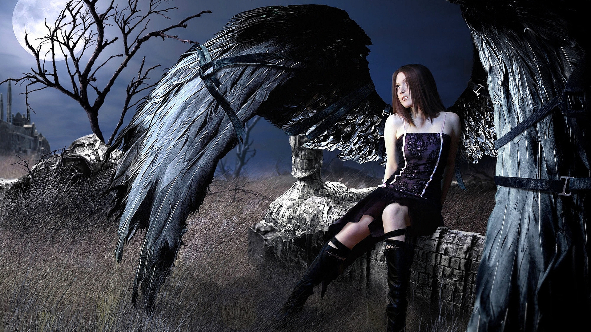 Pics Photos   Fantasy Fallen Angel Wallpaper Hd 1920x1080