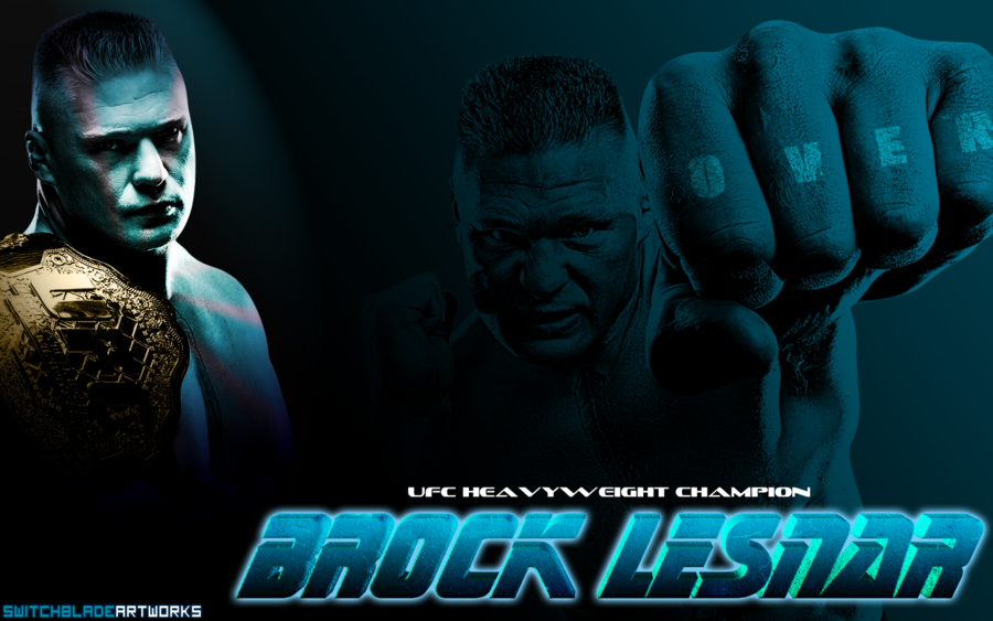 UFC Brock Lesnar Wallpaper by SwitchbladeArtworks 900x563