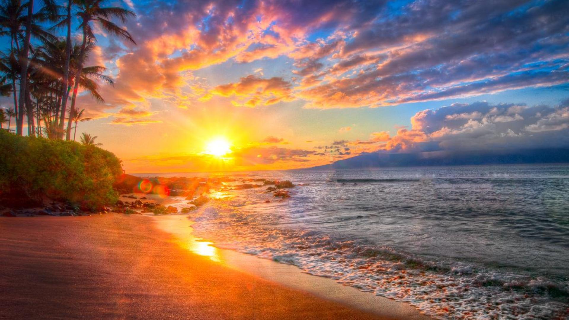 hawaii sunset wallpaper wallpapersafari