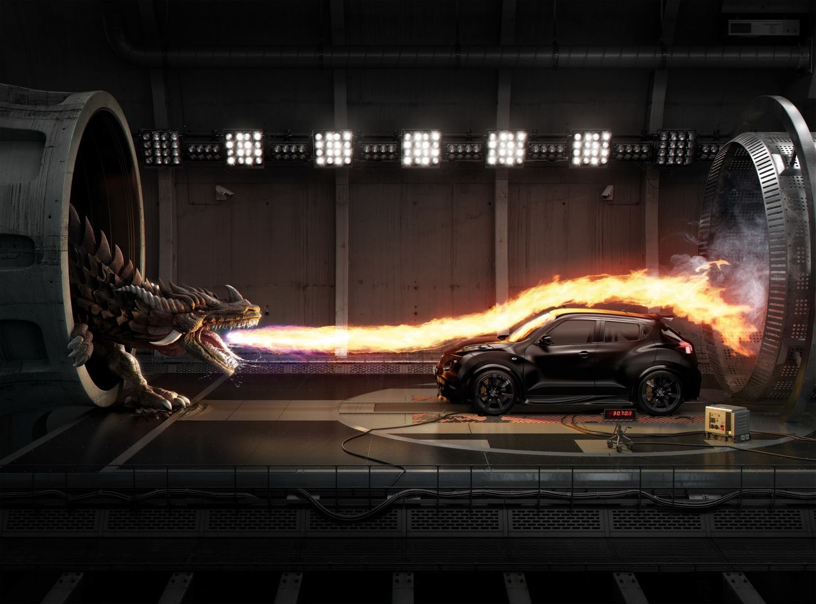 Fantasy dragon dragons car fire wallpaper 1600x1184 122748 1600x1184