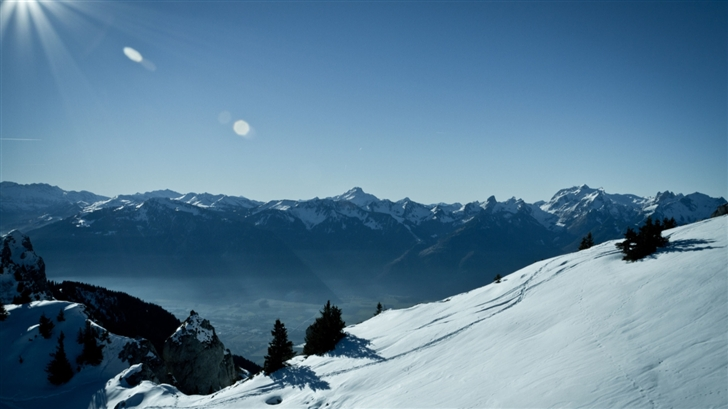Switzerland Mountains Winter Mac Wallpaper 728x409