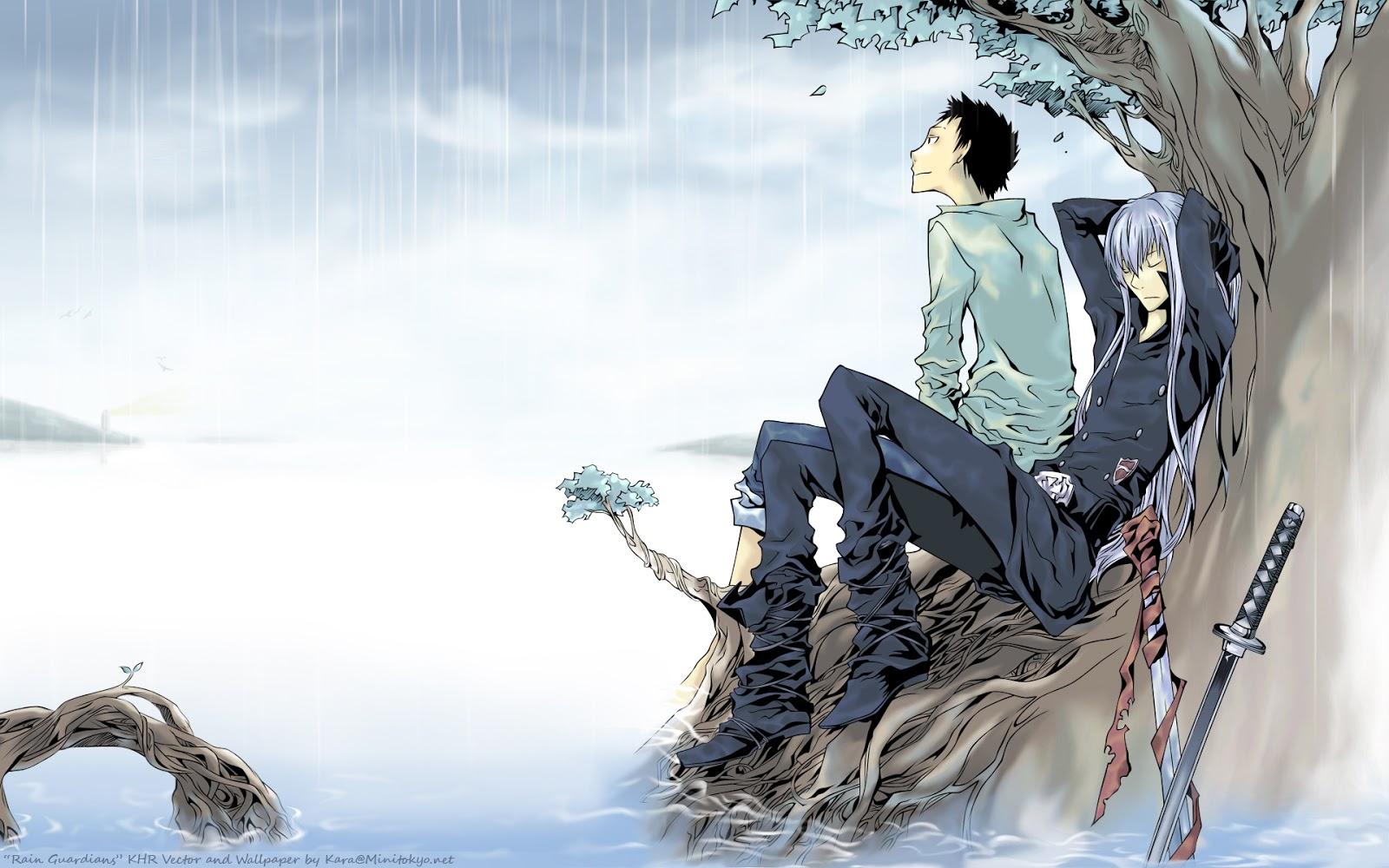 Katekyo Hitman Reborn Takeshi Yamamoto Superbi Squalo Anime Sword 1600x1000
