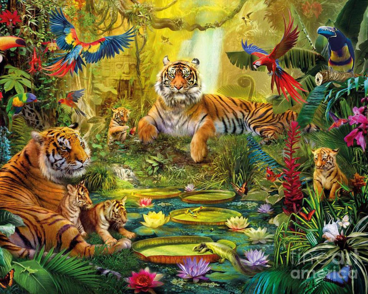 Sticker Wallpaper Jungle Animals Wallpaper Wallpapersafari
