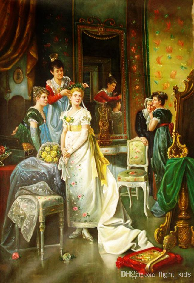 Cheap Oil Paintings Art Pictures Paint on Canvas European Classic 650x945