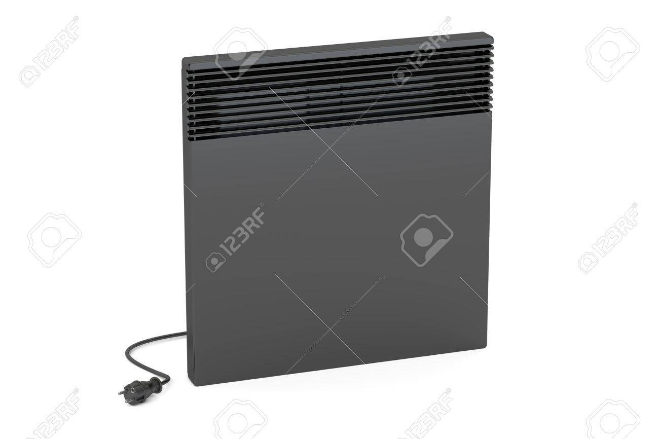 Black Convection Heater 3D Rendering Isolated On White Background 1300x866