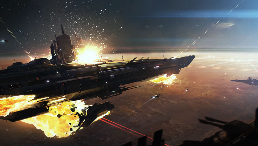 Space Battle   3DCoolvibe Digital Art 990x563