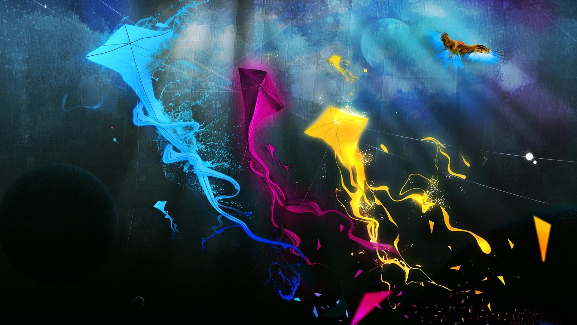 Colorful Kites desktop wallpaper 1920x1080