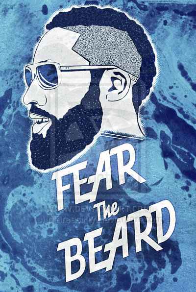 James Harden Fear The Beard Wallpaper James harden fear the beard 400x596