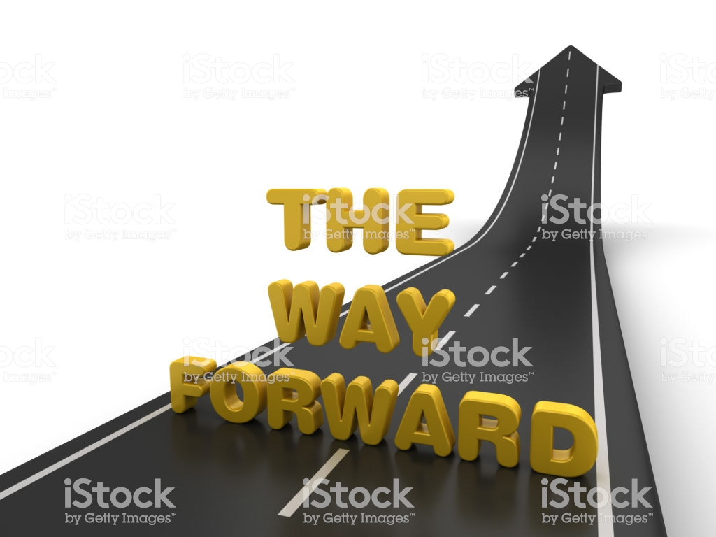 Arrow Road With The Way Forward Phrase 3d Rendering Stock Photo 1024x768