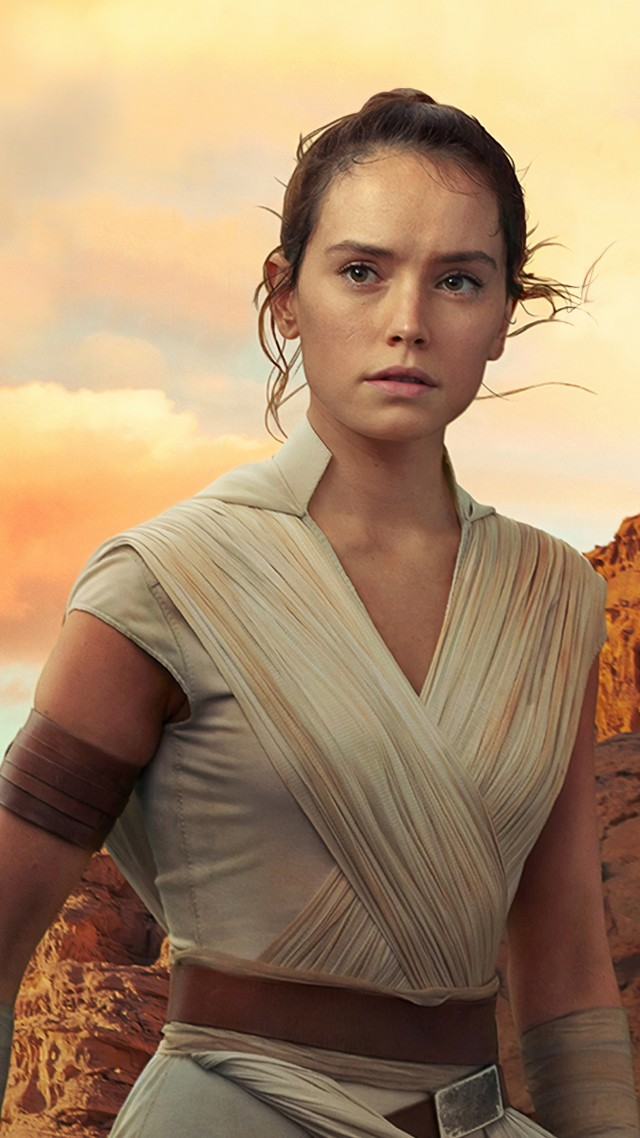 Wallpaper Star Wars The Rise of Skywalker Daisy Ridley 4K 640x1138