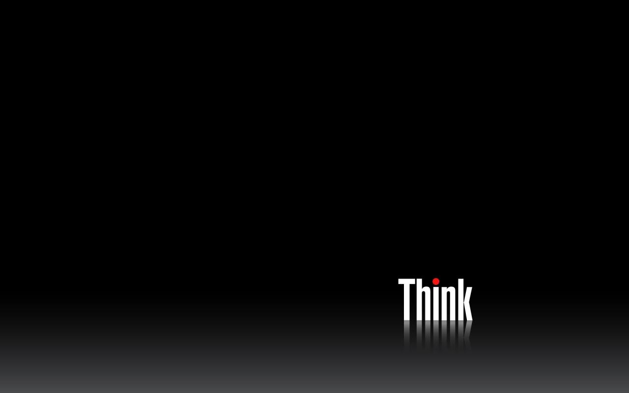 1280x800 Think Black desktop PC and Mac wallpaper 1280x800