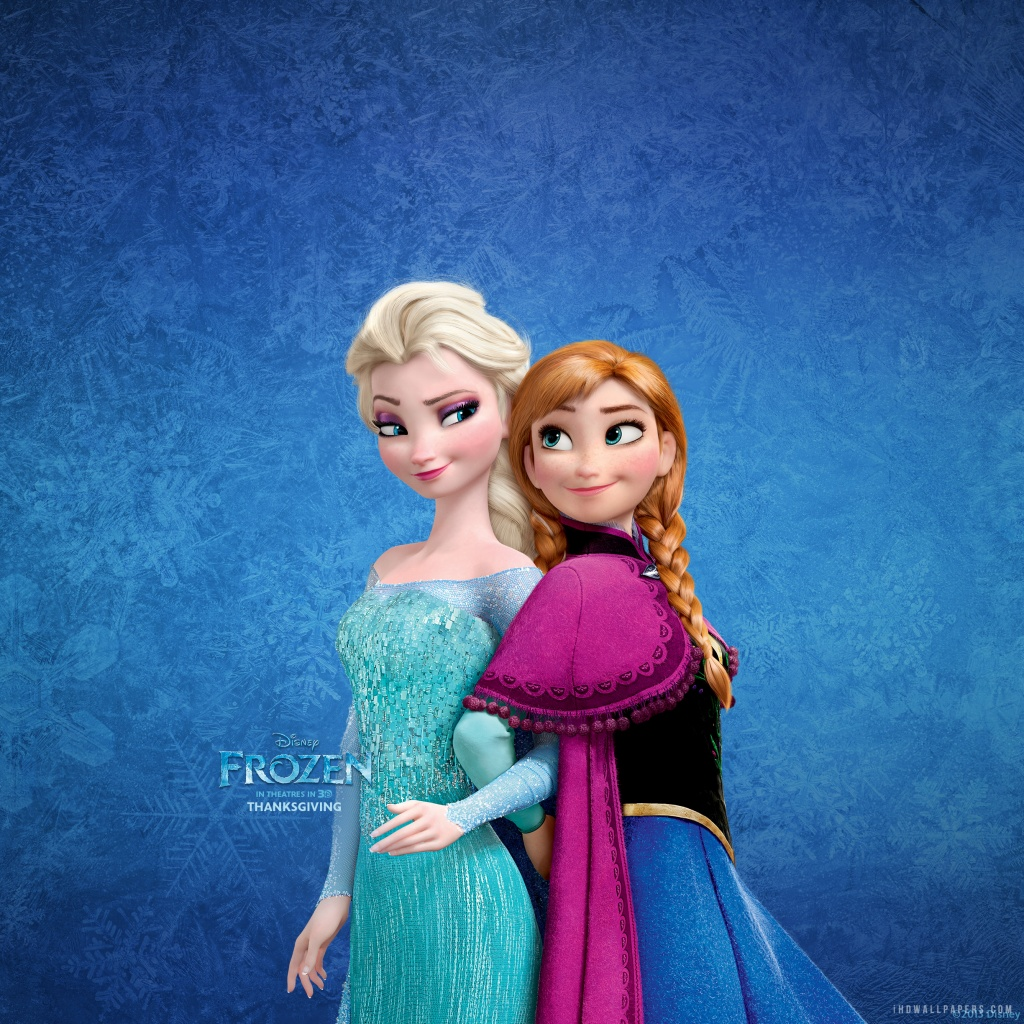 Anna Elsa Sisters HD Wallpaper   iHD Wallpapers 1024x1024