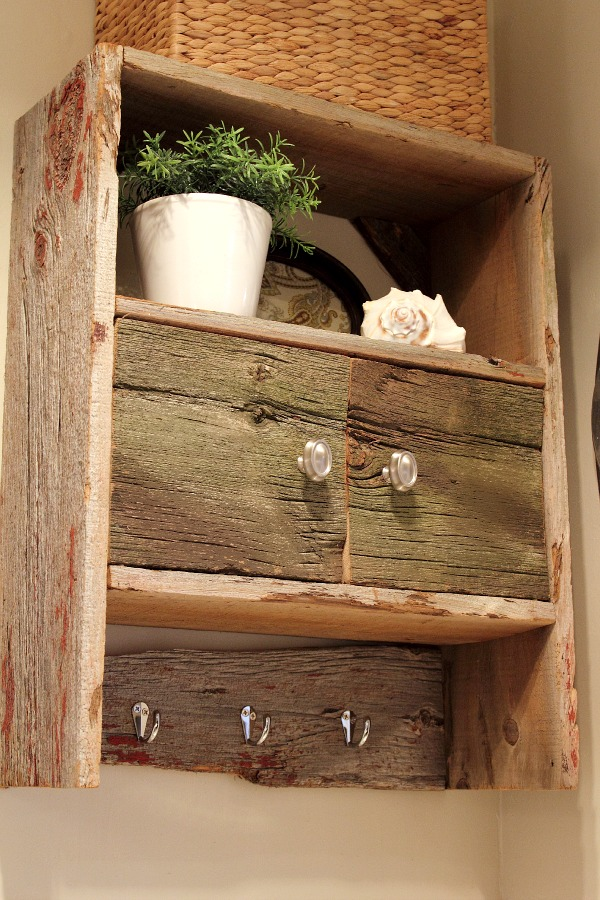 DIY Barnwood Bathroom Cabinet   The Creek Line House 600x900