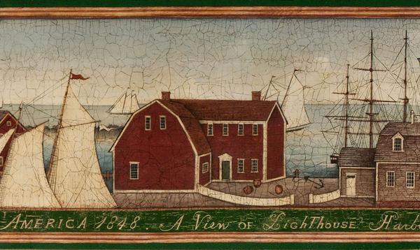 Nautical Americana Designer Wallpaper Border eBay 600x358
