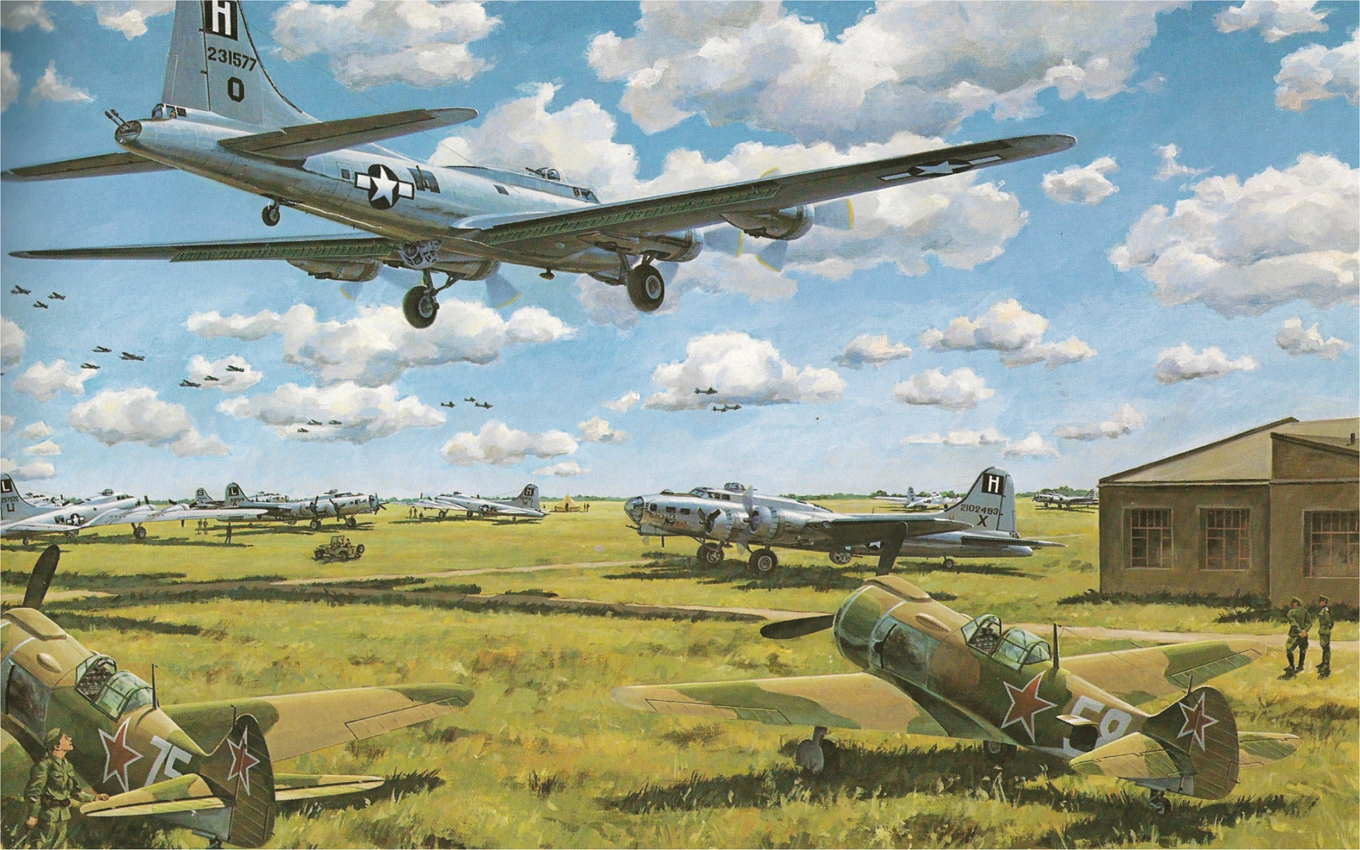 Military   Boeing B 17 Flying Fortress Wallpaper 1920x1200