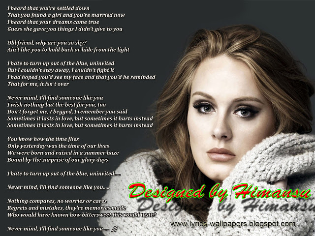 Lyrics Wallpapers   Adele   Someone Like You 640x480