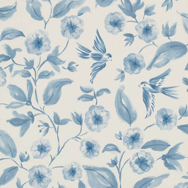 Home Brands Sanderson Aegean Vinyl Wallpapers Sanderson Bird 600x600