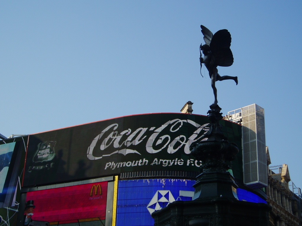 London images eros and Coca cola HD wallpaper and background 1024x768