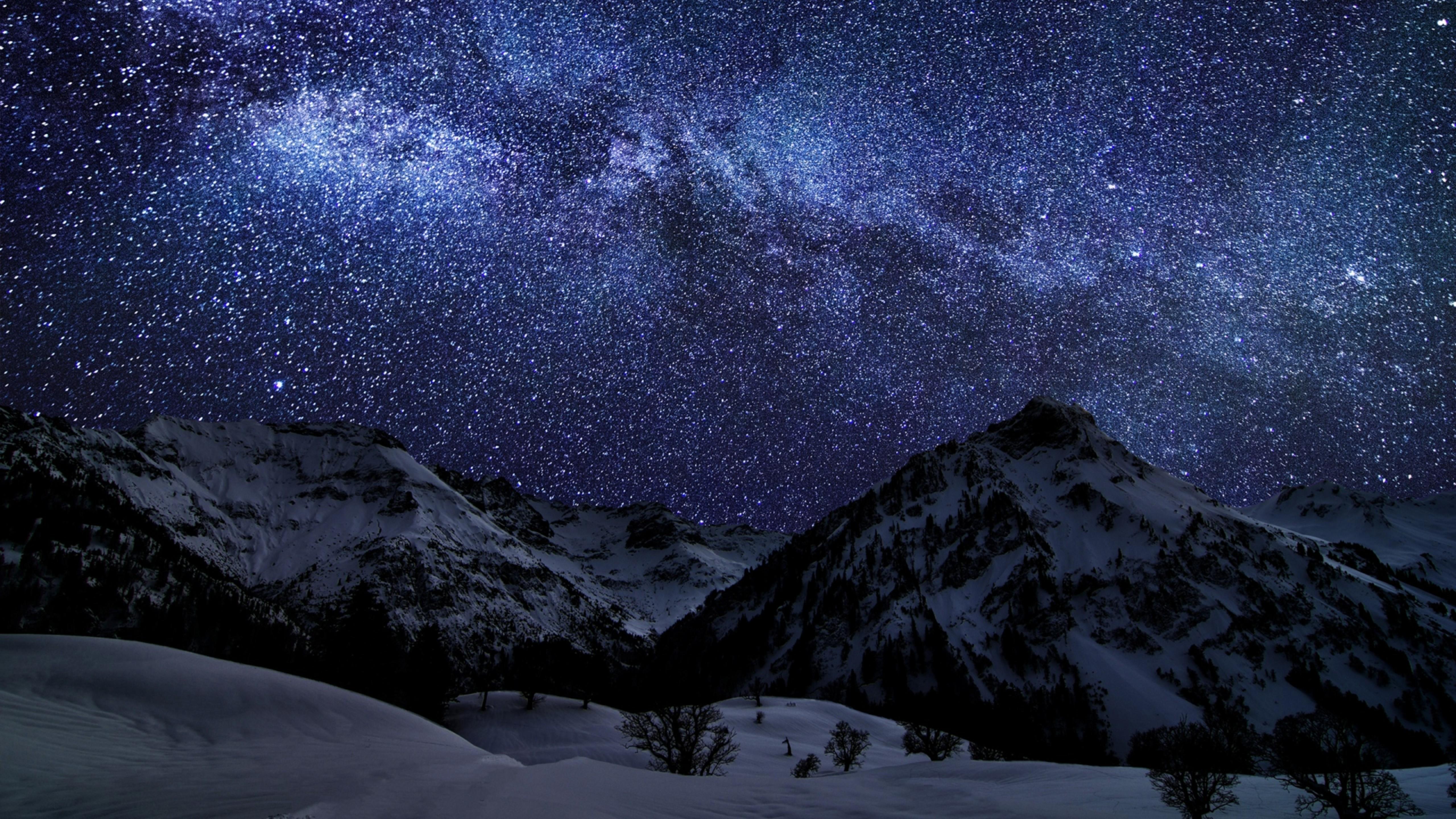 природа космос горы скалы небо звезды ночь  № 851880 загрузить