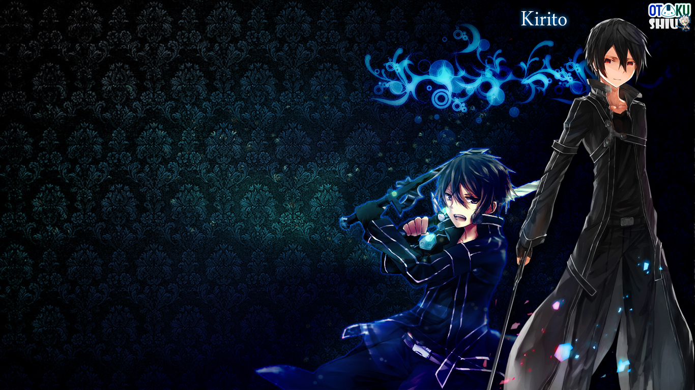wallpaper kirito sao 1366x768 by rarameth customization wallpaper ...