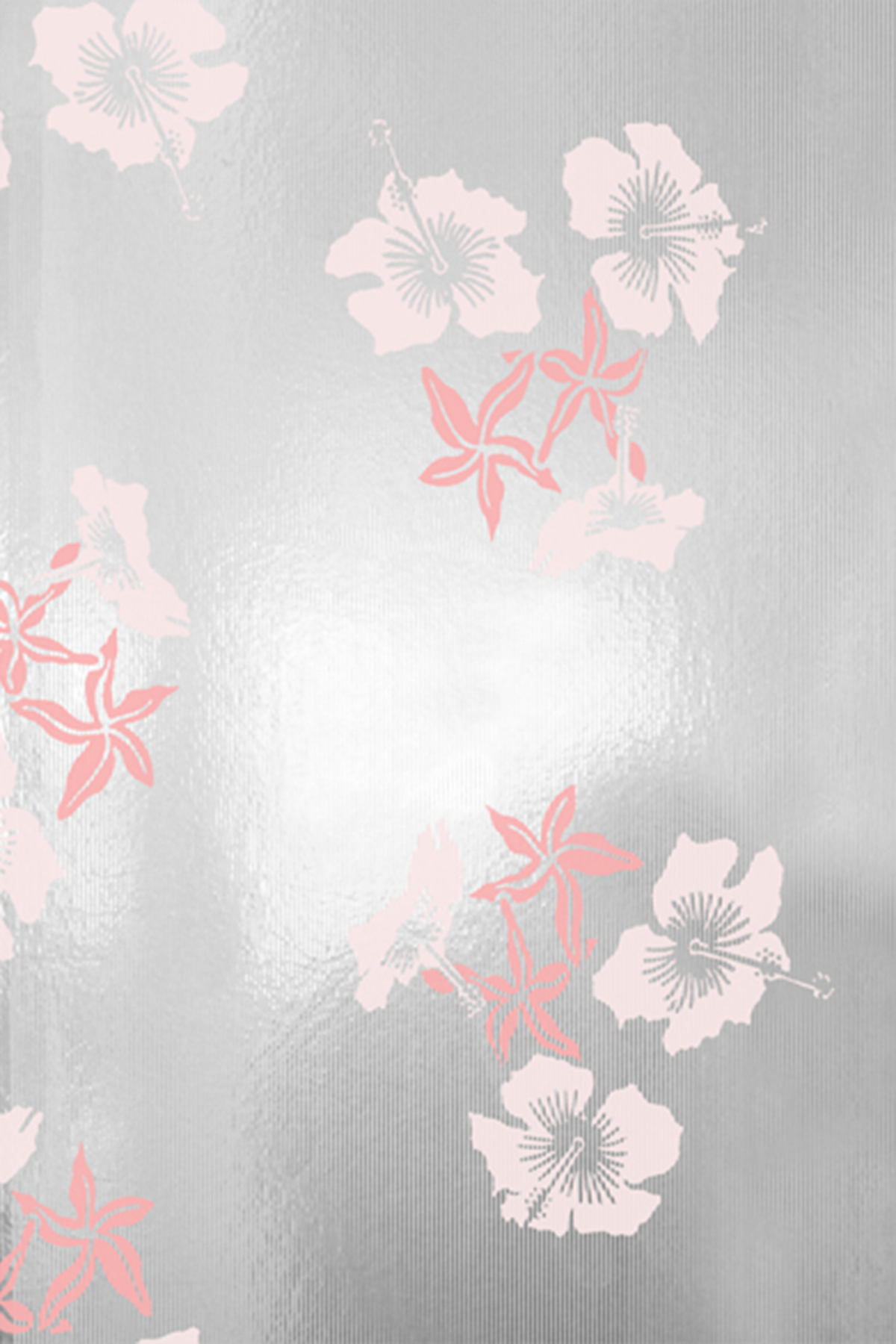 Hibiscus Wallpaper   Pink and Silver Monument Interiors 1200x1800