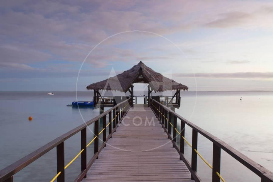 Jetty on Leleuvia Island Lomaiviti Islands Fiji Photographic Print by 900x600